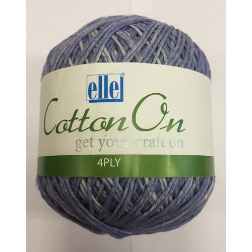 Picture of Cotton On 4Ply - 801 Rainday Blue
