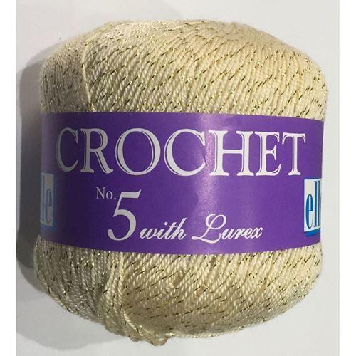 Picture of Crochet No.5 Lurex - 14 Goldy Cream