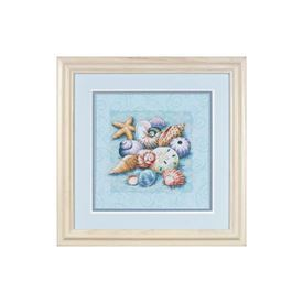 Picture of Shells on Blue