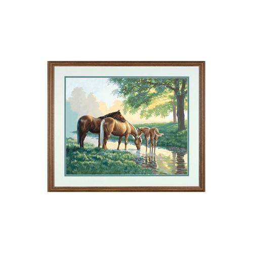 Picture of Horses by the Stream