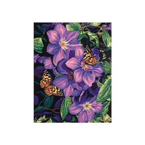 Picture of Clematis and Butterflies