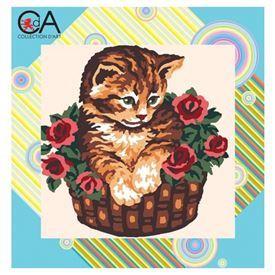 Picture of Kitten in Basket