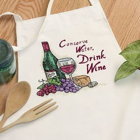 Picture of Drink Wine Apron