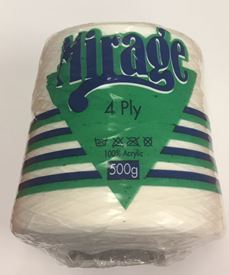 Picture of Mirage 4Ply Cone - 01 White