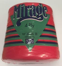 Picture of Mirage 4Ply Cone - 09 Bright Red