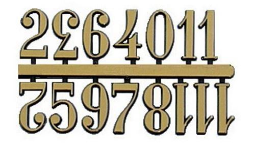 Picture of Gold Arabic Numerals