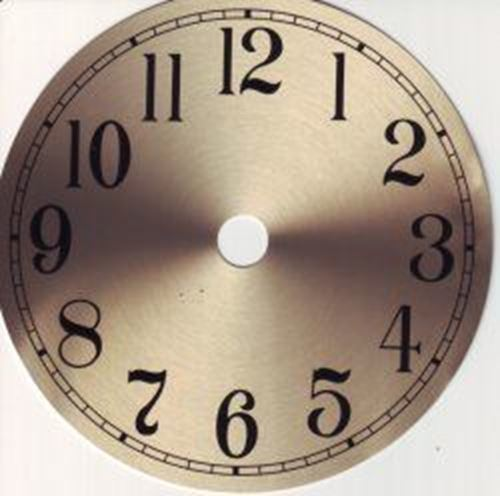Picture of 130mm Gold Clock Face