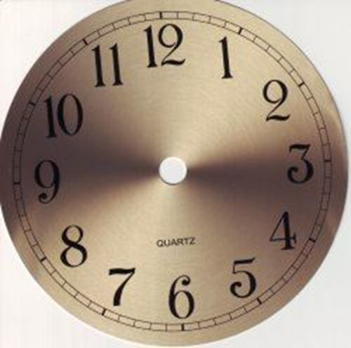 Picture of 150mm Gold Clock Face