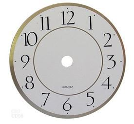 Picture of 115mm White Clock Face
