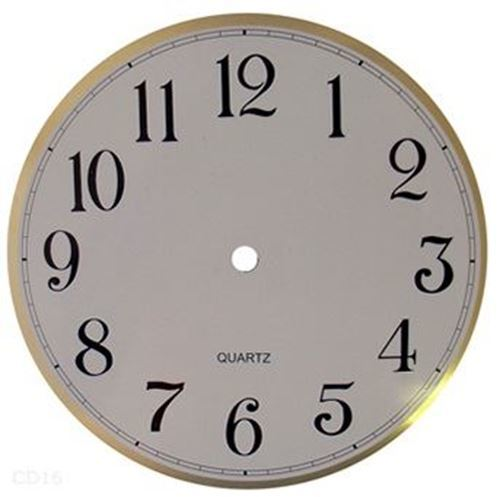 Picture of 200 mm White Clock Face