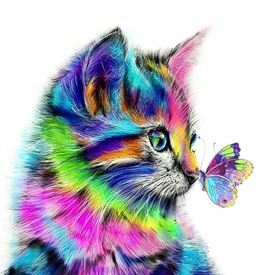Picture of Kitty with Butterfly