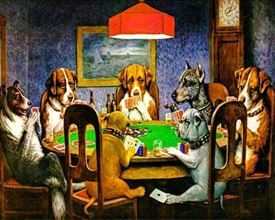 Picture of Dogs Playing Poker