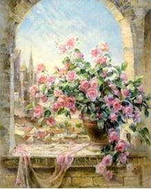 Picture of Flowers on Sill