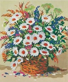 Picture of Basket Full of Flowers