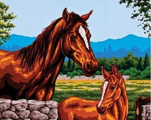 Picture of Horse with Foal