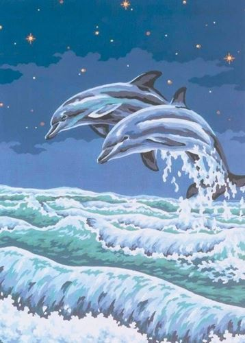 Picture of Leaping Dolphins
