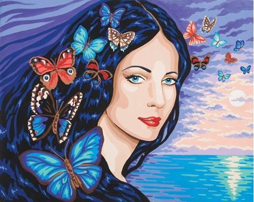 Picture of Portrait with Butterflies