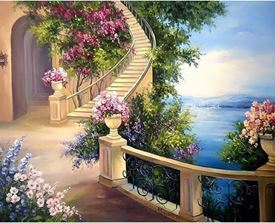 Picture of Floral Stairway