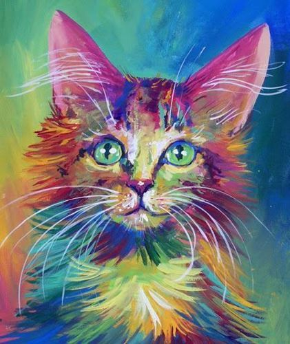 Picture of Colourful Cat