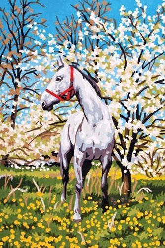 Picture of Horse in the Orchid