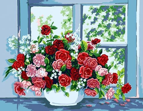 Picture of Roses by Window