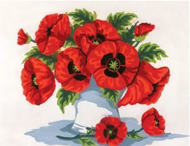 Picture of Vase of Poppies