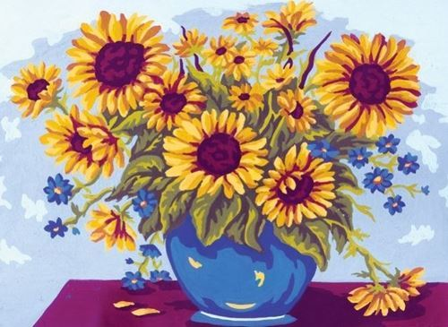 Picture of Vase of Sunflowers