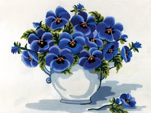 Picture of Vase of Violets