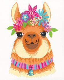 Picture of Flowery Llama