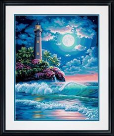 Picture of Lighthouse in Moonlight