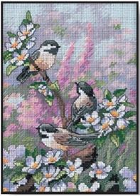 Picture of Chickadees in Spring