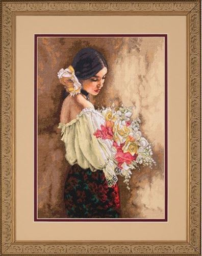 Picture of Woman with Boquet-2