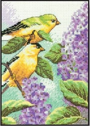 Picture of Goldfinch & Lilacs