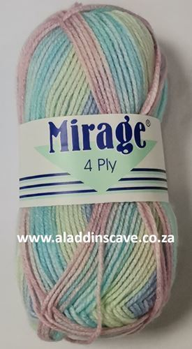 Picture of Mirage 4Ply Print - 306 Lime Jello